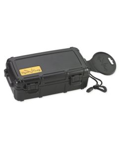 Cigar Caddy 10 Cigar Waterproof Travel Humidor Black