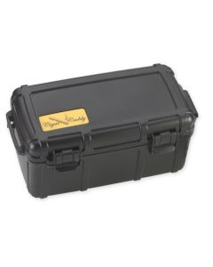Cigar Caddy 15 Cigar Waterproof Travel Humidor Black