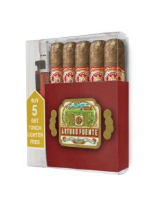Arturo Fuente Don Carlos Robusto Collection With Triple Torch Lighter