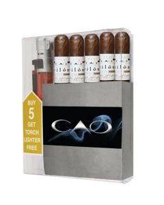 CAO Pilon Robusto Cigar Collection With Lighter