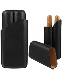 Lotus 70 Ring 2 Finger Cigar Case Black
