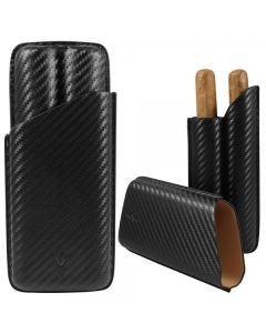 Lotus 70 Ring Carbon Fiber 2 Finger Cigar Case