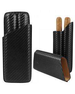 Lotus 62 Ring 2 Finger Carbon Fiber Cigar Case