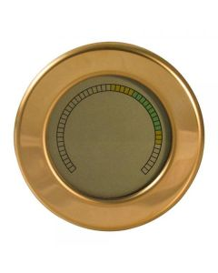 Round Digital Hygrometer with Color Gauge and Calibration