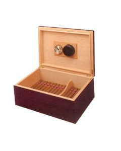 Rosewood Humidor With Cigars
