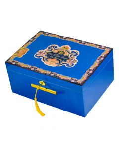 Don Pepin Desktop Humidor Blue