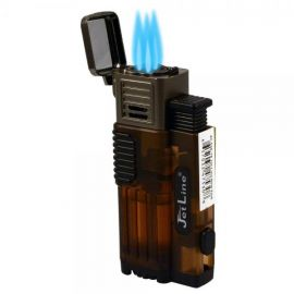 Jetline Gotham Lite Triple Torch Lighter with Punch Amber each