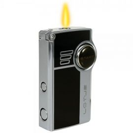 Lotus L5100 Genesis Double Torch Lighter with Punch Black each