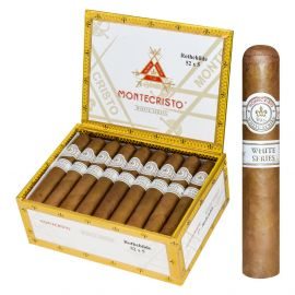 Montecristo White Rothchilde Natural box of 27