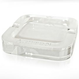 Ashton Ice Carved Crystal Ashtray single