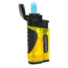 Gunmetal Top Torch Lighter With Punch Yellow each
