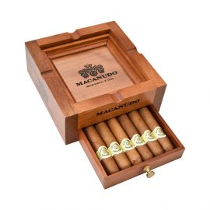 Macanudo Wood Ashtray with Cigars each
