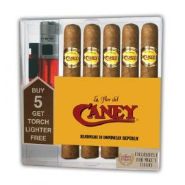 La Flor Del Caney Collection With Lighter Natural box of 5