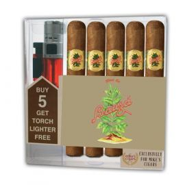 Bauza Cigar Collection With Lighter Natural box of 5
