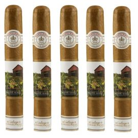 Montecristo White Vintage Connecticut Double Corona NATURAL pack of 5