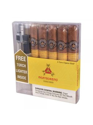 Montecristo Classic Toro With Torch Lighter