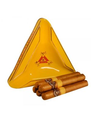 Montecristo Classic Cigars and Yellow Triangle Ashtray
