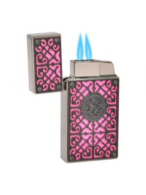 Rocky Patel Lighter Burn Double Torch Pink And Black