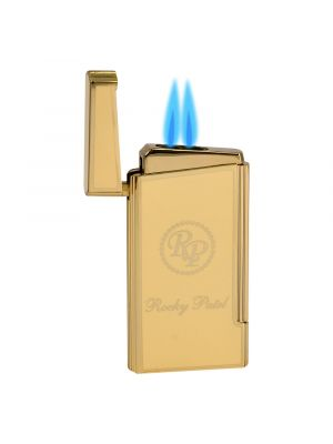 Rocky Patel Lighter Decade Dual Torch Cream And Gold