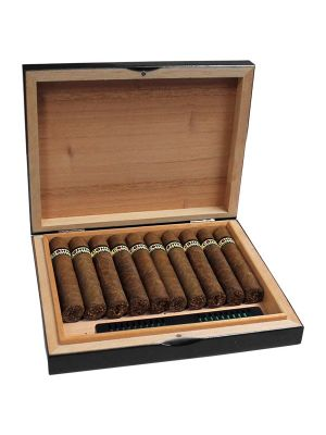 Cohiba Travel Humidor Lacquer Black With 10 Cigars