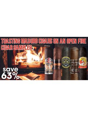 Toasting Maduro Cigars On an Open Fire Cigar Sampler