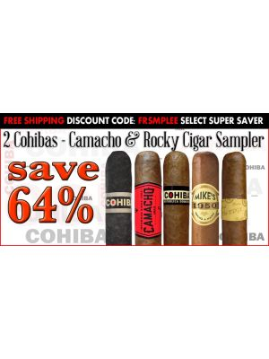 2 Cohibas Camacho And Rocky Cigar Sampler