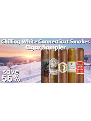Chilling White Connecticut Smokes Cigar Sampler