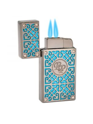 Rocky Patel Lighter Burn Double Torch Teal