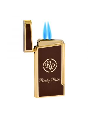 Rocky Patel Lighter Decade Dual Torch Red And Gold