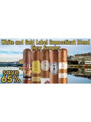 White and Gold Label Connecticut Blend Cigar Sampler
